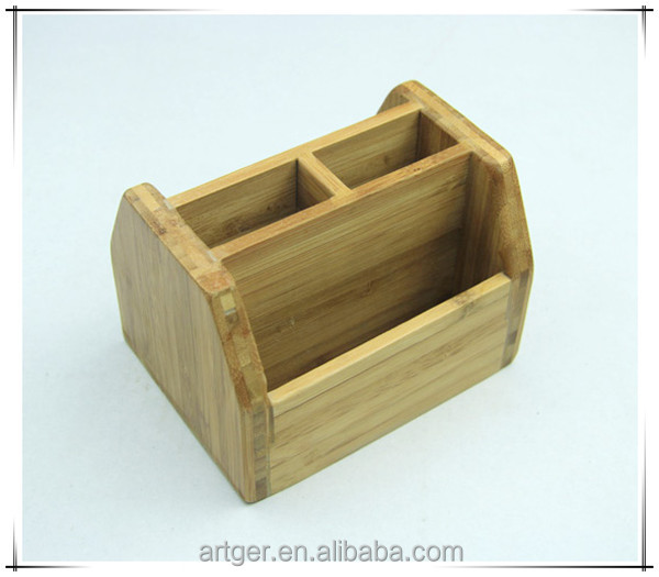 Bamboo container and wooden box pen container