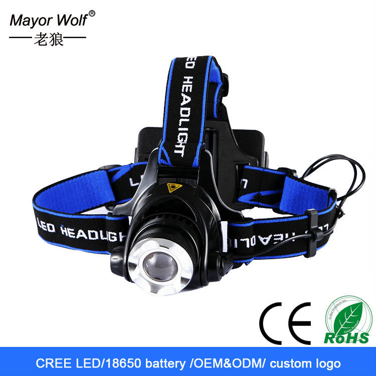 1200 lumens rechargeable waterproof white light <strong>led</strong> headlamp with charger kit
