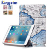 Map skin leather case pouch for ipad mini 4, Flip PU case for ipad mini 4