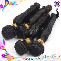 Made in China large stock full cuticle 100% virgin spiral curl human hair