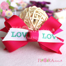 Valentine printing boutique hair bows