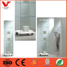Original Manufacturer of clear Modena Glass Display Cabinet - White for exhibitions, shows and museums