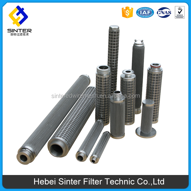 China SS metal fiber pleated cartridge filter