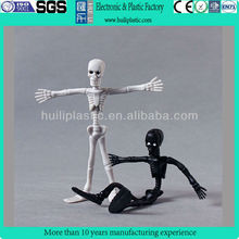 skeleton bendable pvc figurine, plastic bendable figure, metal wire bendable figure for collection