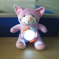 Cute kids gift led light toy plush animal lamp