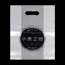 Polyethylene slap-up merchandise die cut shop bag