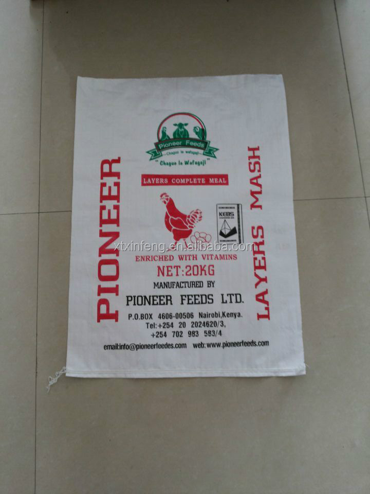 Flour Agricutural product animal feed white plastic poly woven bag