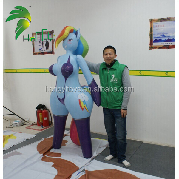 Popular Inflatable Hongyi SexToys , Inflatable Animal Horse Cartoon With Sex For Men