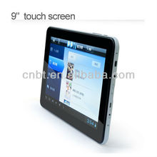 "9"" tablet pc enabled sim cards with TFT screen"