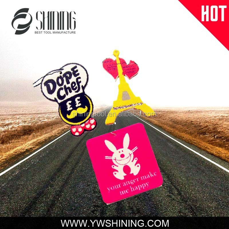 ADVERTISING PROMOTIONAL LOGO PRINTED CAR AIR FRESHENER POPPY