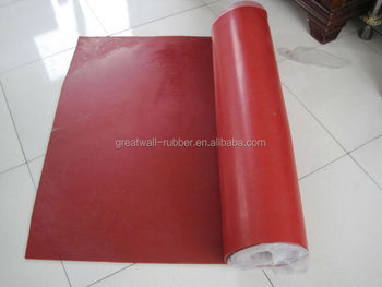 Red NR gum rubber sheet hardness 40+/-5shA 45+/-5shA 50+/-5shA 110mm3 abrasion resistant