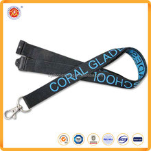 Cheap single custom woven jacquard lanyards no minimum order