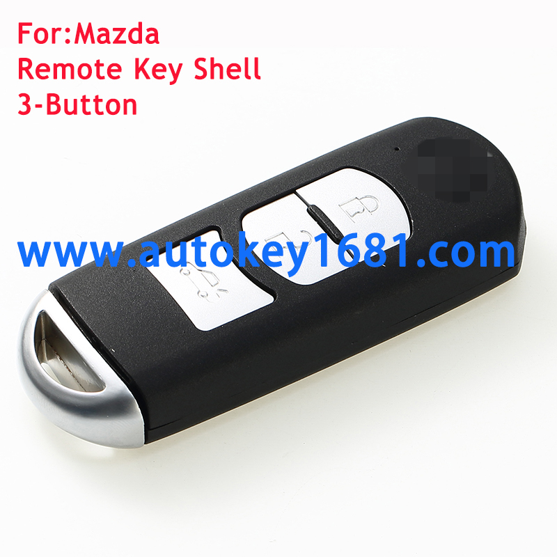 Replacement smart Remote Car key Shell Case Fob 3 Button for Mazda 3 5 6 CX-7 CX-9 with uncut key blade