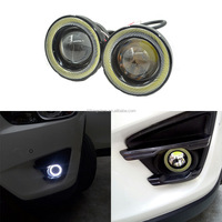 Hotest COB light 600LM 2.5inch 10W led headlight bulbs led daytime running light led angel eye fog lamp