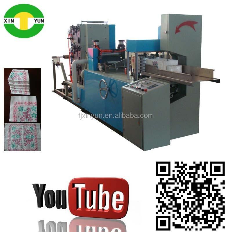 Full auto 3 color printing table tissue serviette making - Serviette table tissu ...