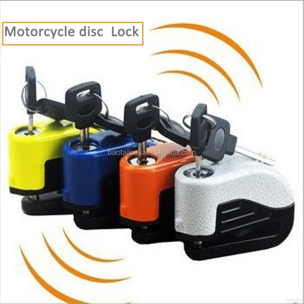 BS009 motorcycle disc lock alarm bike lock, alarm disc lock, motorcycle lock alarm anti theft alarm disc brake lock