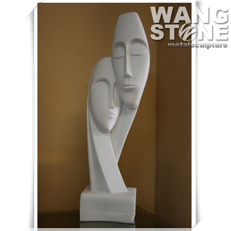 Modern Abstract Stone Art Face Sculpture