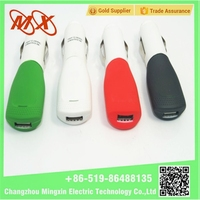 Free Shipping Light Color Ring Double 2.1A Universal USB Mini Car Charger For Iphone4 4S For iphone 5 Ipad