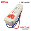 WODE Waterproof Ip67 Ultra Thin Constant Voltag Triac Dimmable Led Power Driver 100W 12V