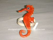 Sea Horse Glass Napkin Ring