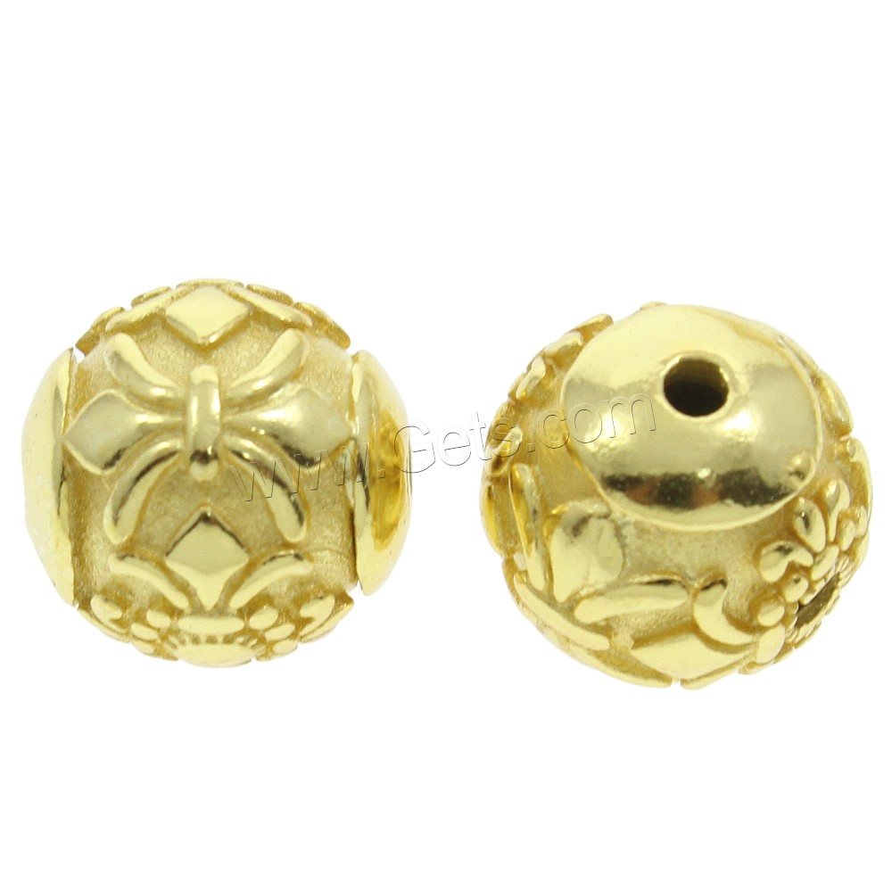 Factory Wholesale 925 sterling silver european beads gold color plated