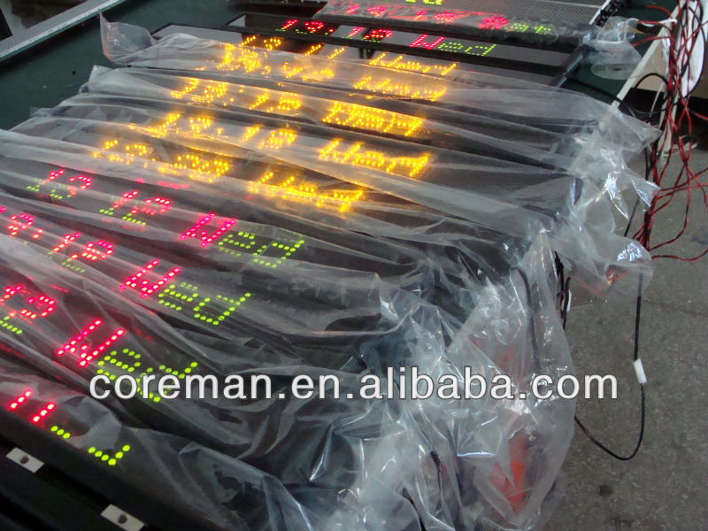 digital timer dot matrix one line/2 lines multi-line led moving sign/led open sign /remote control led moving sign