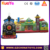 Hot sale toddler inflatable fun express train bounce obstacle course castle