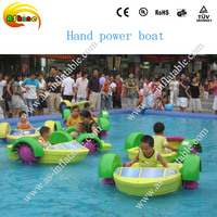 New designs inflatable swimming pool paddle boat lake toys kids hand power paddle boats
