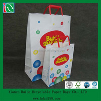 2013 paper custom tote bag with flat handle