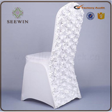 wholesale cheap royal chair covers/white rosette folding chair wedding /chair covers wedding decoration