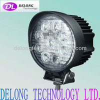CE RoHS round IP67 27W high intensity led car light for off road car,SUV,Jeep etc