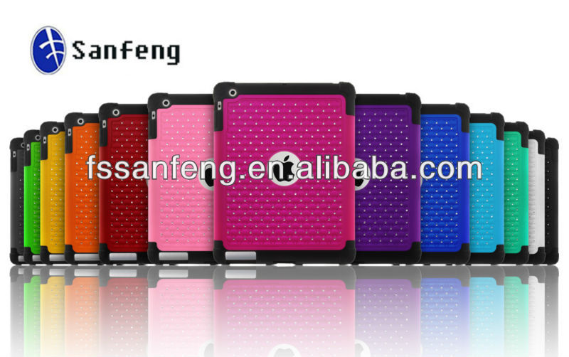 Multi-colored Back Cover for Ipad Tablet Hybrid Case