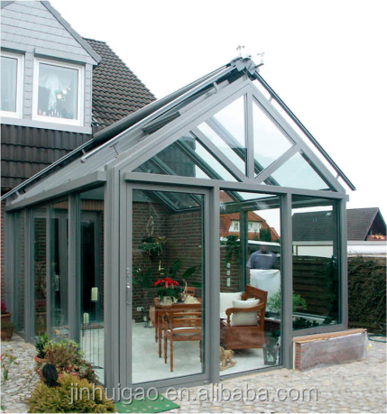 outdoor garden aluminium glass sun room winter garden green glass house