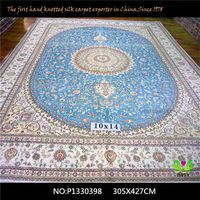 10x14ft Chinese handmade silk mosque carpets /rugs for luxury house decorations