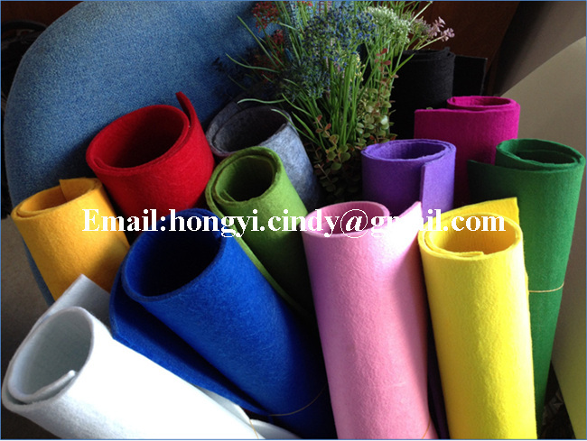 100%polyester needle punched nonwoven felt for handicraft or Ghristmas gift