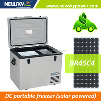new product 2015 DC12V/24V camping portable mobile car fridge 12V 24V solar camping freezer/fridge refrigerator