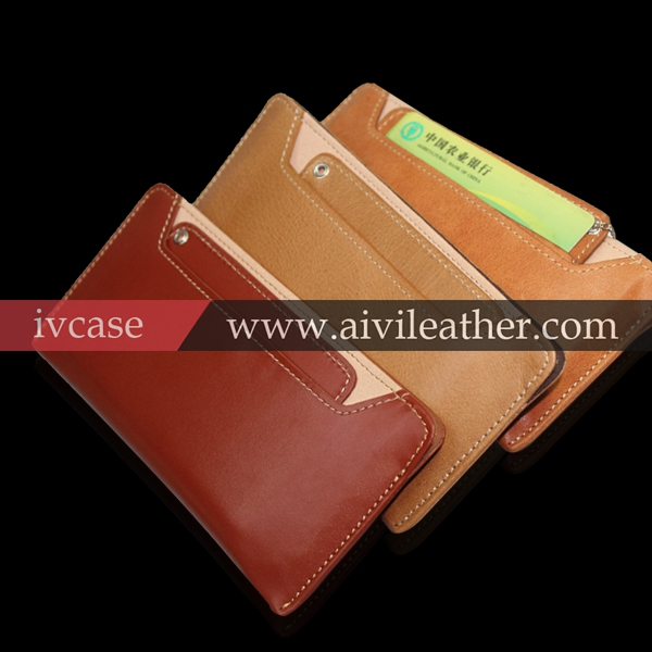 universal smart phone wallet style leather case for iphone 5