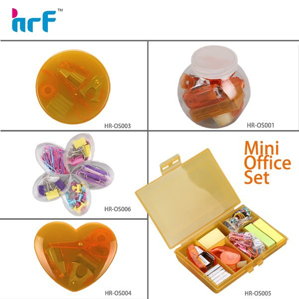 Hot sale stationery set,heart shaped stationery set for kids,mini school stationery set