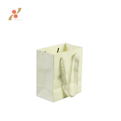 high quality shopping handle bag white cardboard paper for shopping or gift with custom logo
