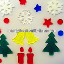 hot selling promotional hanging colored acrylic christmas decorative
