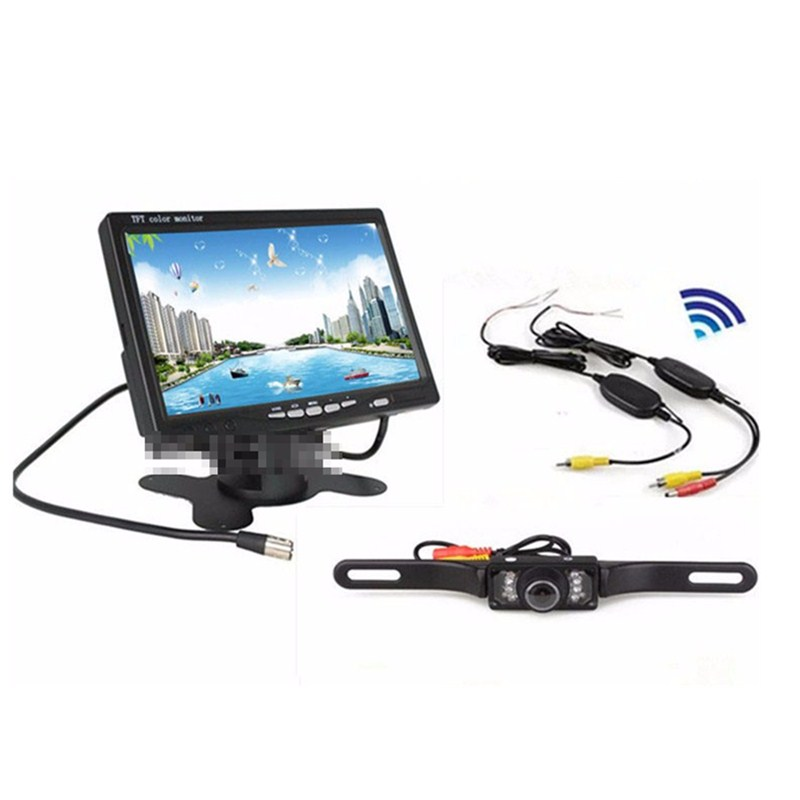 Hot Sale 7 Led Camera Rear View With Wireless 7 Inch TFT LCD Color Display Screen Car Rear View Monitor