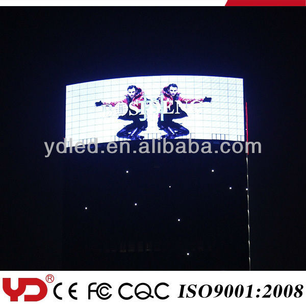 outdoor advertising digital display screens waterproof ip68 in good quality