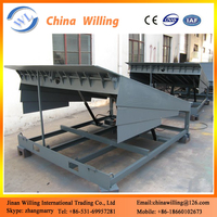 Stationary Container Loading Platform/Steel Material Ramps For Container