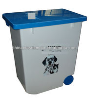 20L 12kg plastic storage container with wheels rice container