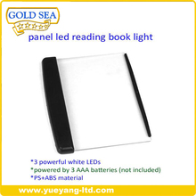 battery operated wedge panel led book light/led flat book reading light