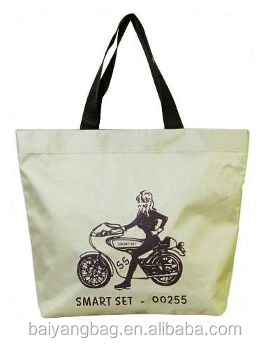 2016 Sales promotion LOGO printed Heavy Duty Eco Friendly Cotton Shopping bag