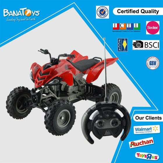 Kid electric toy 4 functions 4 wheel rc motorcycle