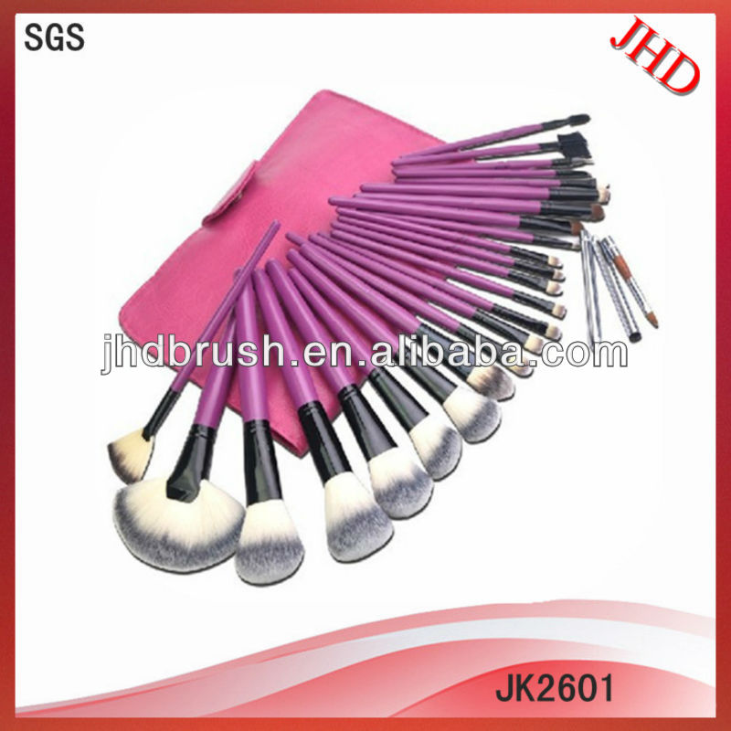 26pcs Professional synthetic hair cosmetic brush set