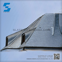 blue color slate fish scale roof tile