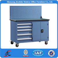 metal tool box roller cabinet trolley heavy duty workshop steel mechanical work bench with drawers